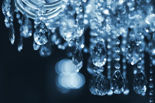 Aufbau des Kristall Kronleuchter