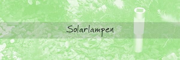 Außenbeleuchtung Solarlampen