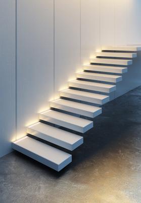 Dekorationsmöglichkeit beim Treppen beleuchten