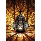Orientalische Laterne aus Metall Ziva Schwarz 30cm