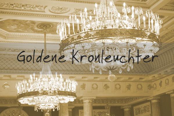 Gold Kronleuchter