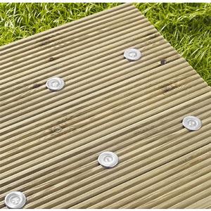 LED Solar Bodeneinbaustrahler Terrassenbeleuchtung