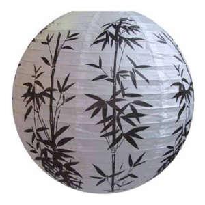 Papierlampe Lampion Bambus