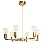 BAODEN 6 Flammig Leuchte Modern Sputnik Kronleuchter Brass Gold