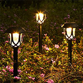 Görvitor Solarleuchten Garten, LED Warmweiß