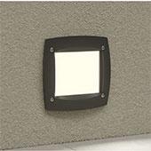 Schwarze LED-Wandeinbauleuchte Leti mit einstellbarer Lichtfarbe
