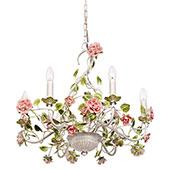 MW-Light 421013806 Kerzen Kronleuchter 6 Armig Florentiner Stil