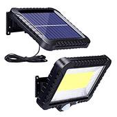 ZOYJITU Solarlampen für Außen mit Bewegungsmelder, 100 LED Strahler