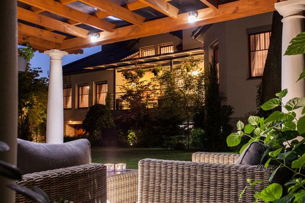 Terrassendach Beleuchtung