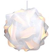 kwmobile DIY Puzzle Lampe XL Deckenlampe Papierlampe