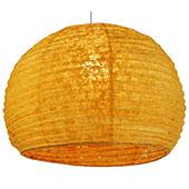 Guru-Shop Halbrunder Lokta Papierlampenschirm