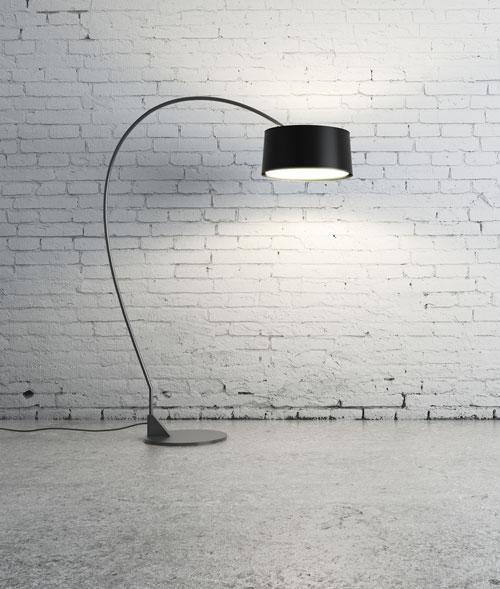 moderne Stehlampe Bogenlampe